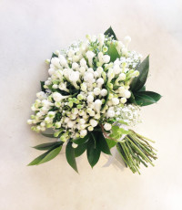 Ramo de novia con bouvardia. Flores boda. Rebolledo Floristas. Santander, Cantabria