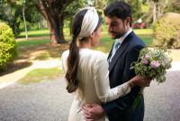 Ramo de novia con rosas inglesas. Flores boda. Rebolledo Floristas.