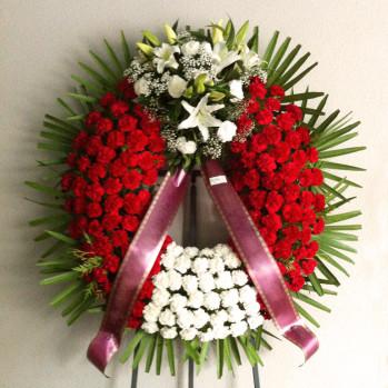Corona de flores de un copete